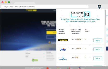 Exchangerateiq Chrome Extension Compare Rates and Fee