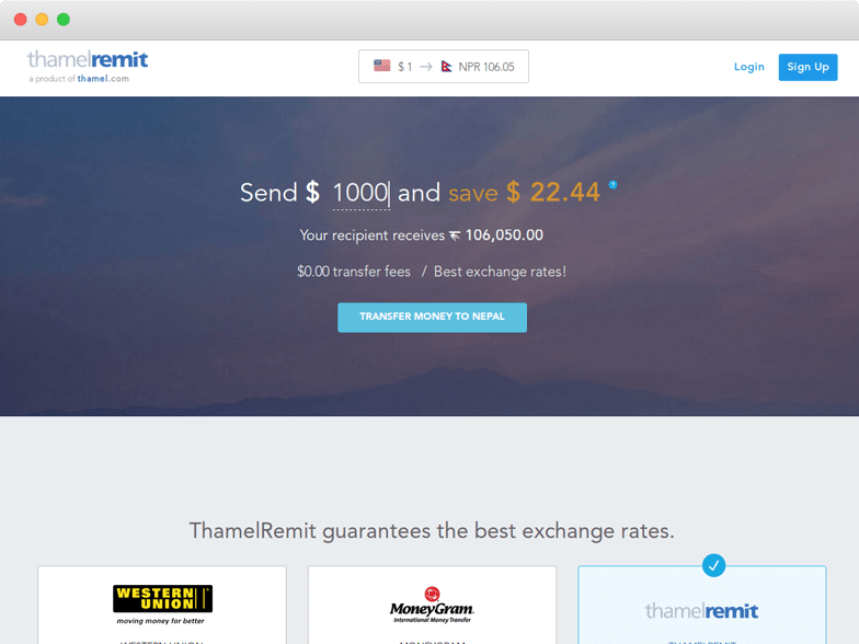 ThamelRemit Review, Rating & Fee- Money Transfer Service 2019
