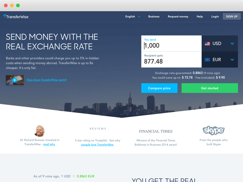 Transferwise Reviews